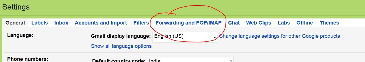 Check Forwarding Option